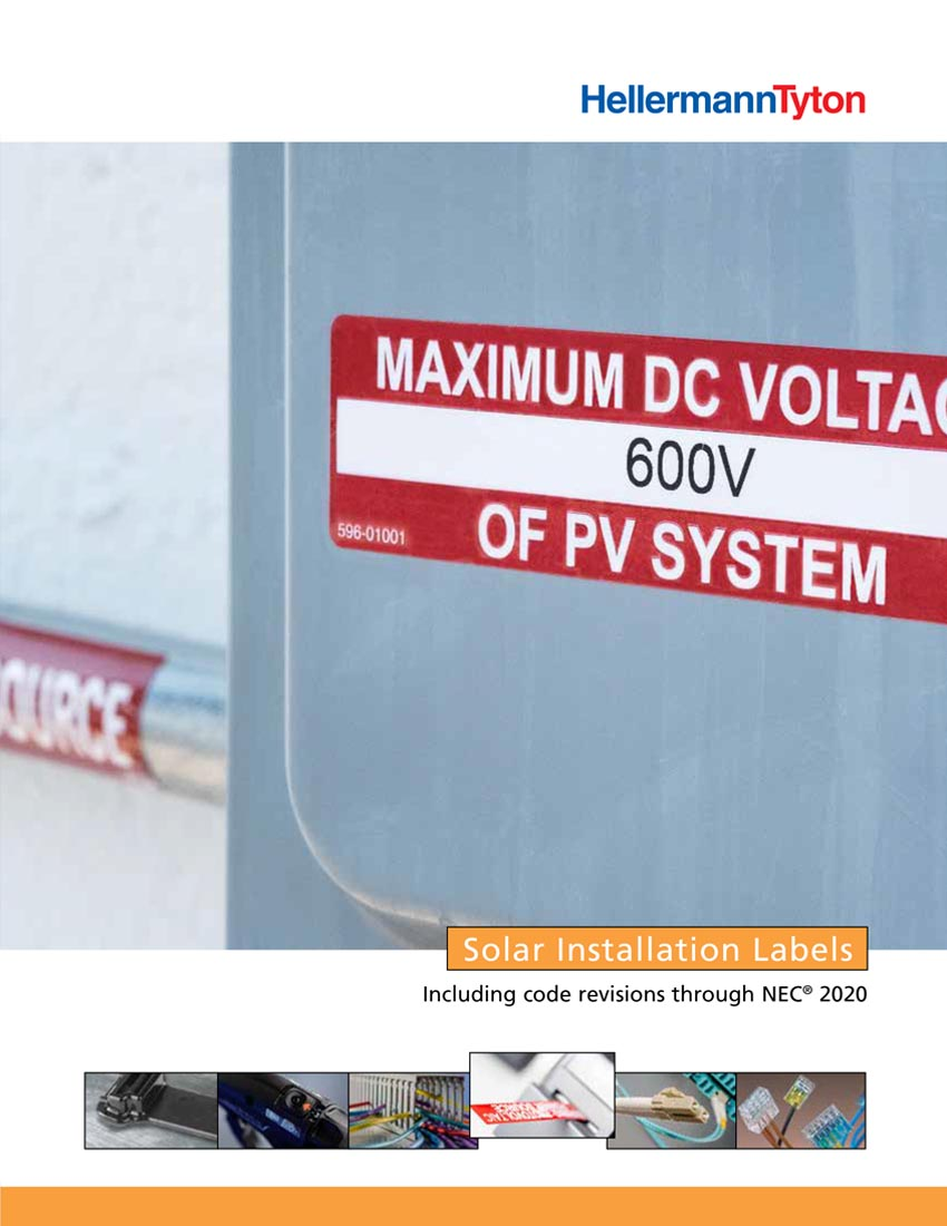 Solar Installation Labels