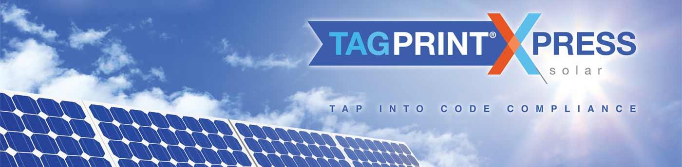 TagPrint Xpress Solar banner