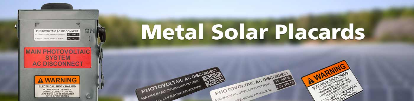 Metal Solar Placards