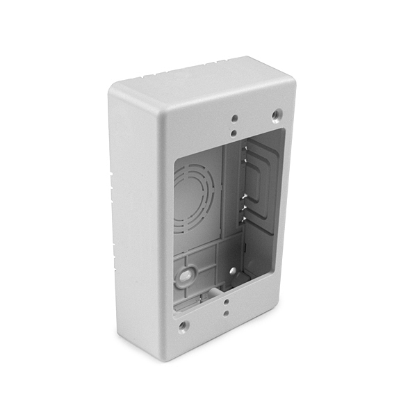 """sngl gang junction box, 1-1/4"""", WH, TSRP"""