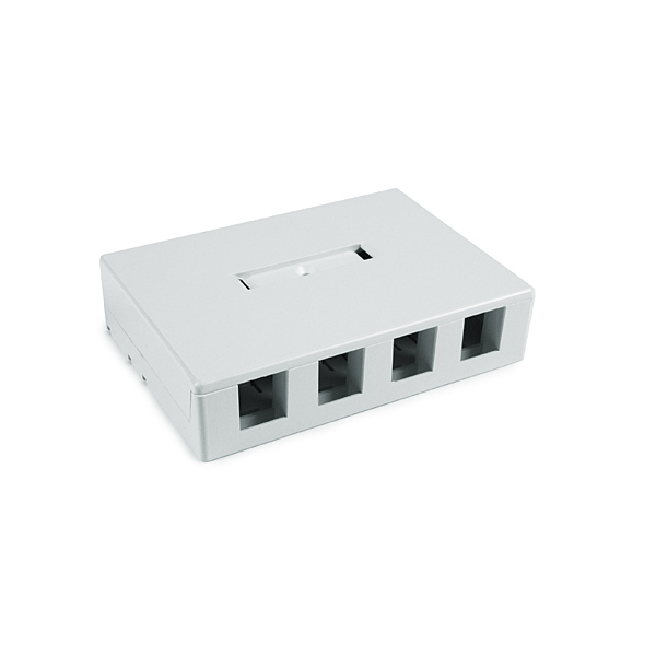 Four port surface mount box - White