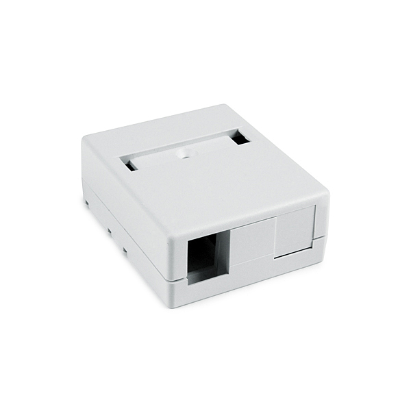 Two port surface mount box - White