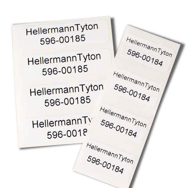 TYT596-00183 2.5X.5 INSERT LABEL,POLYESTER LABEL FOR USE ON WHITE INSERT 596-00418. 1