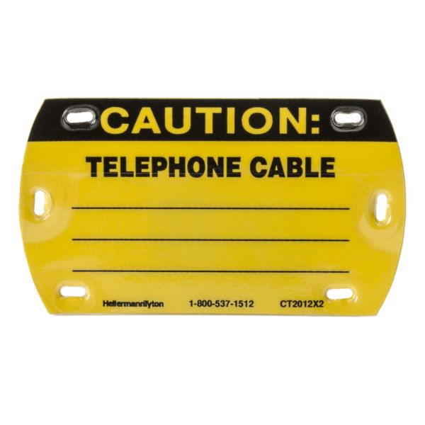 f38a8967d Self-Laminating Tag, Caution Write-On, Telephone Cable, 3.5